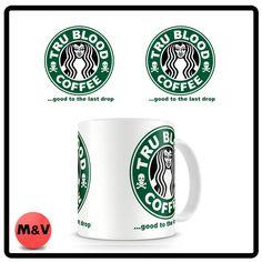 True Blood Starbucks coffee mug, Good to the last drop
