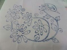 Mexican Embroidery, Floral Embroidery Patterns, Butterfly Embroidery, Machine Embroidery Patterns, Vintage Embroidery, Embroidery Art, Embroidery Applique, Embroidery Stitches, Embroidery Designs
