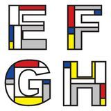 Mondrian Alphabets - Download From Over 62 Million High Quality Stock Photos, Images, Vectors. Sign up for FREE today. Image: 3505898