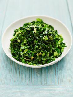 Simple lemony spring greens | Jamie Oliver | Food | Jamie Oliver (UK) Add lemon zest, lemon juice, olive oil, salt and pepper to greens