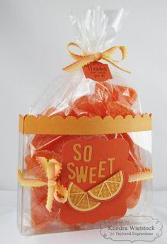 """Orange"" You So Sweet Treat By: Kendra Wietstock #GiftGiving, #EatsandTreats, #ThankYou, #LittleBitsDies"
