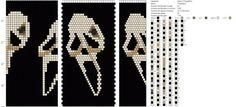 Photo Bead Crochet Patterns, Bead Crochet Rope, Crochet Chart, Beaded Crochet, Beaded Jewelry, Handmade Jewelry, Beaded Skull, Loom Beading, Hama Beads