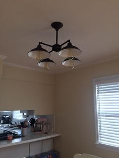 Westinghouse Iron Hill 4-Light Oil Rubbed Bronze Convertible Chandelier/Semi Flush Mount 6343300 at The Home Depot - Mobile