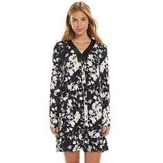 Women's Apt. 9® Pajamas: Magical Morning Satin-Trim Sleep Shirt