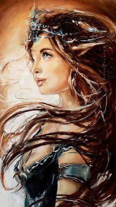 Art by artist Elzbieta Brozek Woman Painting, Painting & Drawing, Wow Art, Portrait Art, Beautiful Paintings, Female Art, Art Girl, Watercolor Art, Fantasy Art