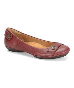 This Red Satara Leather Flat is perfect! #zulilyfinds