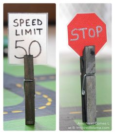 Fun Road Signs to make for Imaginative Play