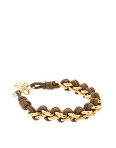 ASOS brown and gold bracelet
