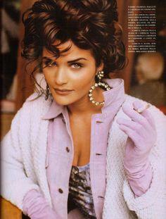 """Soft Tone""  Helena Christensen by Pamela Hanson - Vogue Italia February 1992."