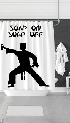 Soap On Off Funny Amp Clever Dorm Shower Curtain Gift