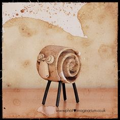 Sheep, pottery idea.
