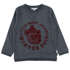 Little Marc Jacobs long sleeves t-shirt to keep the cold out http://www.littlefashiongallery.com/fr/mode-enfant/little-marc-jacobs/tee-shirt-gris-fonce-chine-dark-grey-h13/