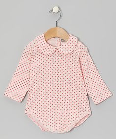 Take a look at this Red Polka Dot Bodysuit - Infant by Petit Confection on #zulily today!