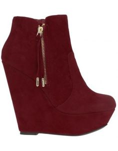 Zoom Thrust Ankle Boot Wedges Red