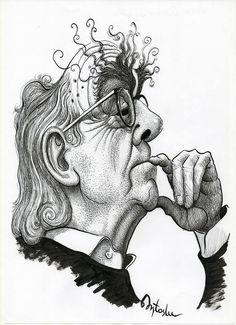 Resultado de imagen para jose saramago caricatura