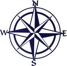 Blue Compass Rose Laser Cut Metal Wall Art