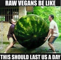 You have to give raw vegans some credit. That is so hard!!