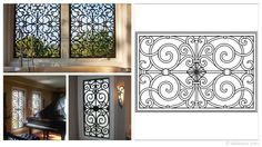 Rectangular 35×23-inch Tableaux Faux Iron Window Treatments are sustainable, fine home decor window treatments that are easy to install and dazzling to the eye. Delight your friends, family and neighbors with functional artwork that will never cease to amaze! For pricing and product details, please visit FauxIronDIRECT.com or call 1 (800)281-9963 today!