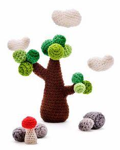 Ilustração em crochê by Crochet Jardim, via Flickr