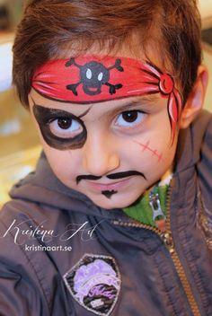Face painting pirate. Ansiktsmålning pirat. kristinaart.se