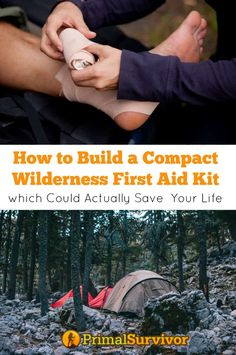 How to Build a Compact Wilderness First Aid Kit which Could Actually Save Your Life - - Learn how to build a first aid kit for wilderness survival, camping, or backpacking. All the first aid items you really need to survive. Wilderness First Aid, Wilderness Survival, Survival Prepping, Emergency Preparedness, Survival Gear, Survival Skills, Survival Hacks, Survival Backpack, Apocalypse Survival