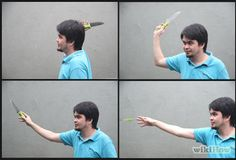 How to: Throw a Knife without It Spinning   VERY useful, gals and guys.....learn to throw a knife with accuracy ( no spin a good starter) and be prepared to grab THAT knife from the kitchen ... you never know when a date might go serial rapist baaaaad   prepping for survival and emergency