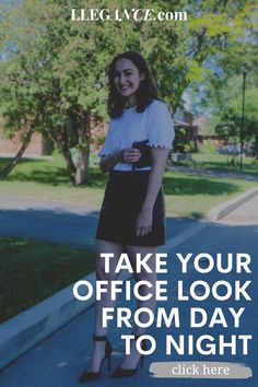 """Click here to learn about """"Take your office look from day to night"""" on Llegance! You'll also find pins about office look women casual and office look women business. Additionally, office look women chic and office look women summer. As well as, office look women 2020 and office look women winter. Also, office look women classy outfits and day to night outfit summer casual. Stylish day to night outfit summer work wear and day to night outfit summer classy.  #office #workwear #fashion Day To Night Outfit Summer, Summer Work Wear, Day To Night Outfits, Fall Outfits For Work, Casual Summer Outfits, Classy Outfits, Cool Outfits, Spring Outfits, Office Look Women"""