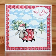This is the Quirky Baa-Humbug set designed by Sharon Bennett for Hobby Art. Clear set contains 16 Clear stamps. This Stunning card was made by Elaine Parker