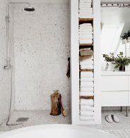 Une douche ouverte d'inspiration vintage - Marie Claire Maison