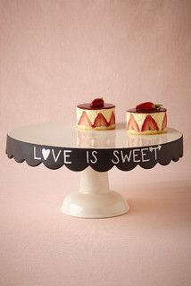 Chalkboard Cake Stand - contemporary - serveware - by BHLDN