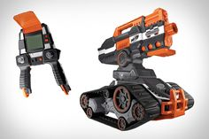 Forget sneaking up on your colleagues, hiding behind cubicle walls waiting for the right shot. With the Nerf N-Strike Elite Terrascout Drone Blaster, you can assail your assistants from the comfort of your own desk. Where has this been all my life?