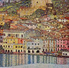 Malcena at the Gardasee by Gustav Klimt (Austrian artist, 1862-1918) - The Golden Art Nouveau