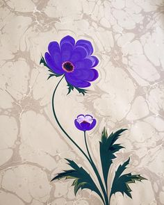 Firdevs Çalkanoğlu Ebru Art, Turkish Art, Marble Art, Watercolor Tattoo, Folk Art, Purple, Drawings, Paper, Flowers