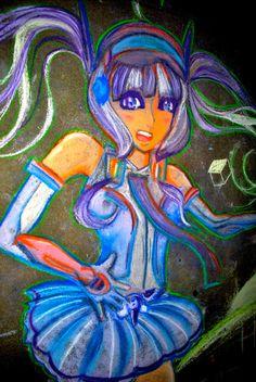 Talent #Chalk Art