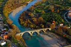 Arta, Epirus, Greece-The bridge Old Stone, Greece Travel, Places To Visit, Greek, River, Island, Landscape, Country, City