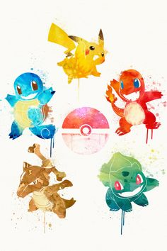 Watercolor Pokemon - Created by...