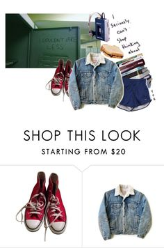 """tell me everything that bothers you"" by alessandragaetano ❤ liked on Polyvore featuring Converse and Levi's"