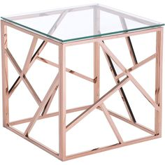 The brilliantly stylish Candor Side Table features a chic lattice body of polished stainless steel. Modern and clean in design, the piece gives your interior design a sense of space and simplicity. -