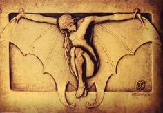 1918 - Marco Tobón Mejía - Bat (Murciélago)  |  Bronze relief, 8.5 x 12 cm
