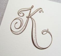 Monogram letter K Hand Lettering Fonts, Creative Lettering, Lettering Styles, Lettering Tutorial, Handwriting Fonts, Penmanship, Script Fonts, Fancy Letters, Letters And Numbers