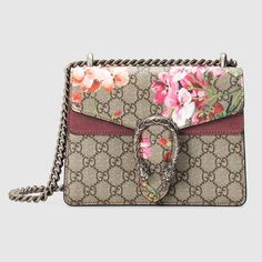 Mini borsa a spalla Dionysus con stampa Blooms