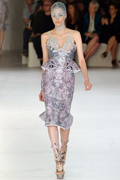 Alexander McQueen Spring 2012: Five Dresses Worth Drooling Over [Glamour]