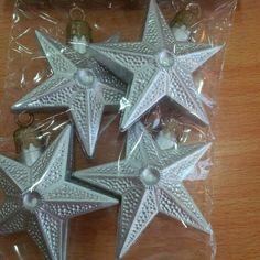 Estrellas Plateadas x 4