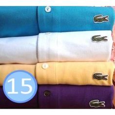 A Lot of 15 Women Polo Shirts Short Sleeve, Mix Order The Colors or Size