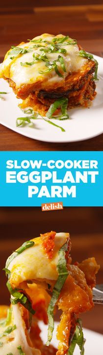 Slow-Cooker Eggplant Parm is the cheesiest way to hack your favorite Italian dish. Get the recipe from Delish.com.