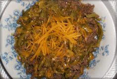 Three ingredients!That's all it takes to make this delicious low carb dish.3 Ingredient Cheesy Burger Skillet1 lb. Ground Beef, cooked and drained 1 can french style green beans, drained 4 oz. shr...