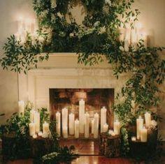 Ceremony Backdrops - Fireplace