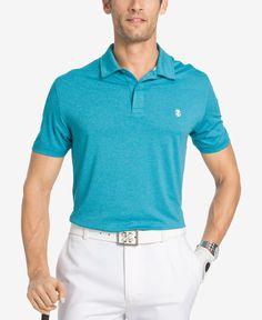 Izod Men's Stretch Heathered Texture Stripe Polo