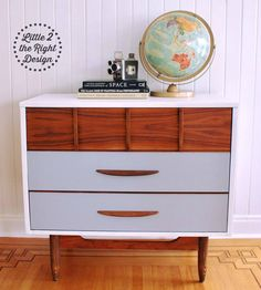 Amazing Transformation Of This Worn And Dated 3 Drawer Mid Century Modern  To Sleek And Masculine. Amazing TransformationsFurniture  RestorationFurniture ...