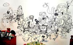 Walls drawing by Sam Cox.